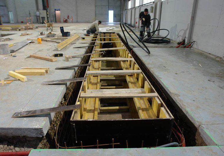 Installation éclairage de fosse d'inspection